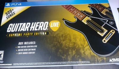 Ps4 guitar hero live supreme party edition
