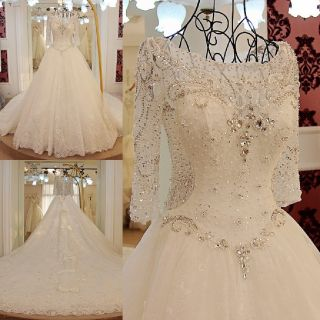 Chelsea's Applique Sweetheart A Line Wedding Dress Without Train