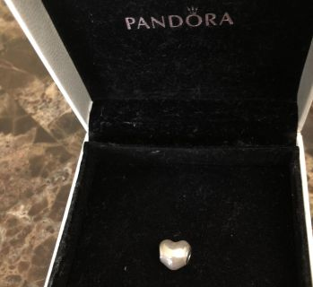 Pandora Glittering Heart with Soft Pink Enamel