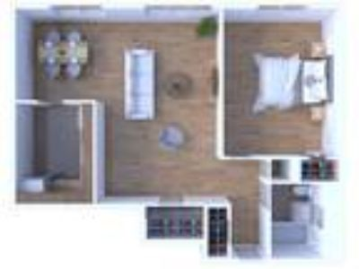 Main Station Apartments - One BR Floor Plan A4