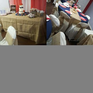Burlap Tablecloths Chair Sashes and Table Runners