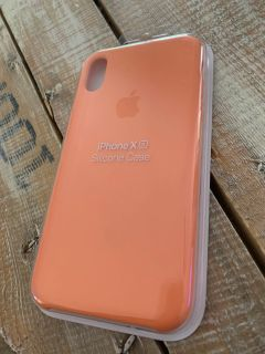 iPhone XS Silicone Case BRAND NEW IN PACKAGING Beautiful Coral Color (retails for $39)
