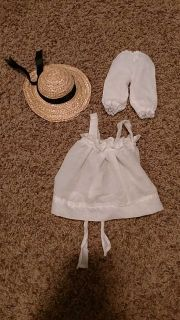 """18"""" doll apron, hat, and long underwear"""
