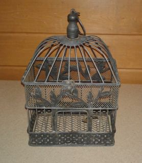 Small Antique Old Metal Bird Cage