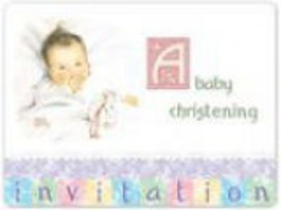 Vintage Nursery Chrising Invitations