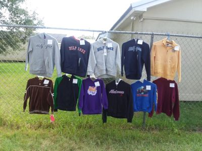 11 boys size 8 hoodies 8 are NEW WITH TAGS MOSTLY TOOMMY HILFIGER $5-$20 EACH or $130 for all one retails for $65