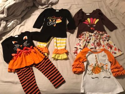 Size 12/18 month fall sets
