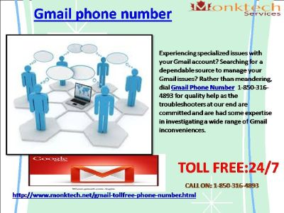 Do You Know About Toll- free 1-850-316-4893 Gmail Phone Number ?