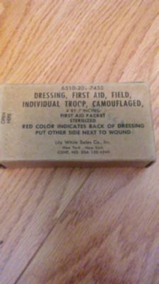 Military first aid dressing