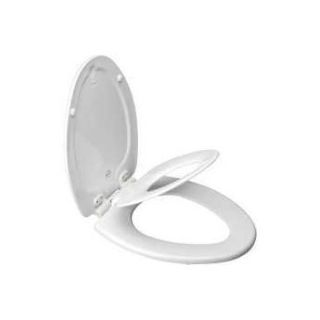 Mayfair NextStep Adult Toilet Seat with Built-in Child Potty Training Seat, Elongated, White, 18...