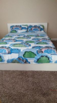 Ikea queen size duvet cover and two shams