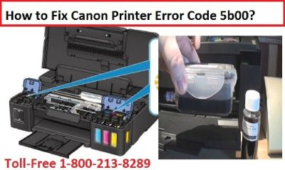 How to Fix Canon Printer Error Code 5b00? 1-800-213-8289