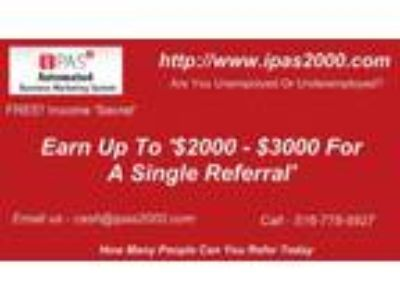 Earn up to $3000 for a single referral