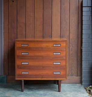 Danish Rosewood Dresser Cabinet Table Mid-Century