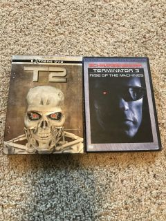 Terminator 2 and 3 DVDs
