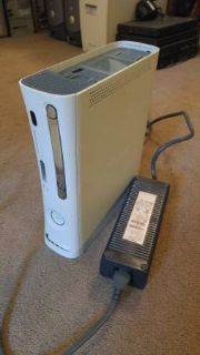 White Xbox 360 Red Ring Death with Power Brick