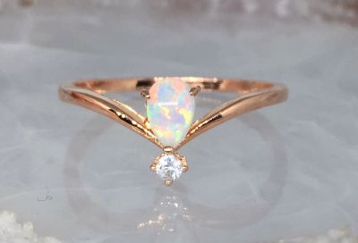Size 7 Natural Opal ring