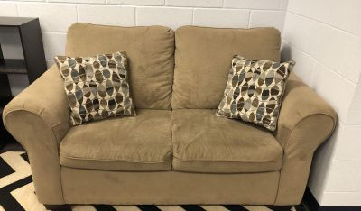 EUC-Loveseat. Measures approximately 56 x 36 . Must pick up