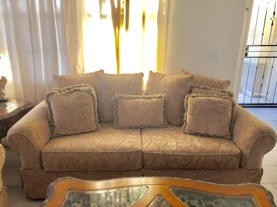 Prefect condition sofa loveseat and coffee table by Michael Amini