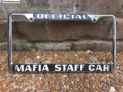 Real Official Mafia Staff Car License Plate Frame