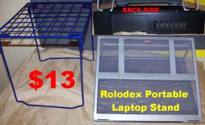 Rolodex Portable Laptop Stand, Mesh Metal, Black/Silver. In New Condition.