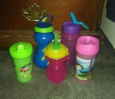 5 sippy cups