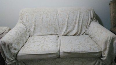 Floral Excellent Love Seat for sale with Ivory Cover