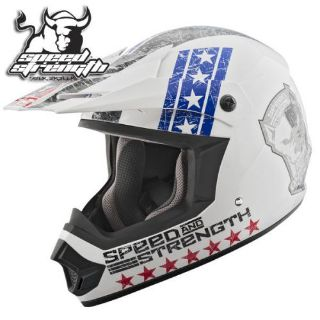 Purchase Speed & Strength SS2400 Dogs Of War Helmet White motorcycle in Holland, Michigan, United States, for US $74.69
