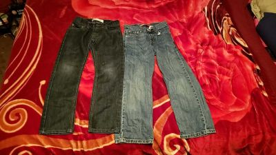 Levi's size 8 $10 for both pr will trade for 8 husky