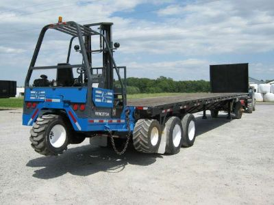 $12,900, 1986 Great Dane Trailers 45#039; Flatbed Princeton Piggyback Forklift Trailer