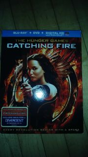 The hunger games catching fire blu ray and dvd