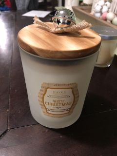 Brand new white Christmas candle
