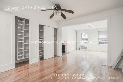 Prewar Studio In Townhouse on a charming tree-lined block just steps from Central Park!