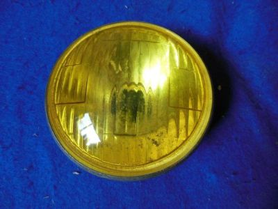 """Sell Orig Lucas L462 Amber Fog Lamp Lens Early MG Alvis Sunbeam Morgan Jaguar 4 3/4"""" motorcycle in North Haven, Connecticut, United States, for US $49.99"""