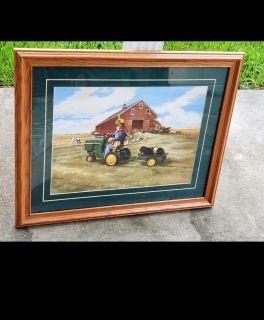 "Donald Zolan ""Tractor Ride"" Print. 22.5"" x 19"""