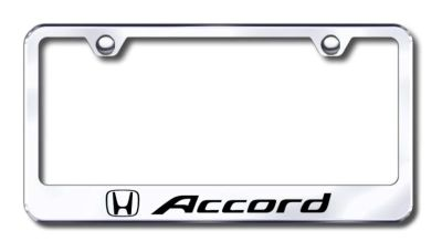 Purchase Honda Accord Engraved Chrome License Plate Frame -Metal Made in USA Genuine motorcycle in San Tan Valley, Arizona, US, for US $30.98