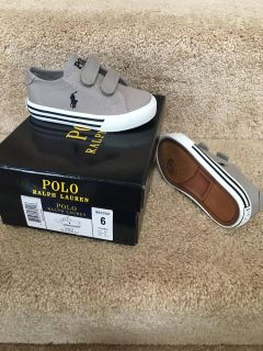 NEW! Toddler 6 Polo Shoes
