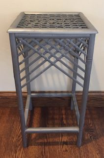 Wood and Wicker Table
