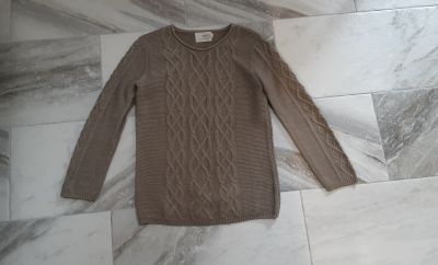 GUC taupe cable long sweater. By Made for each other.