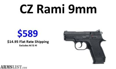 For Sale: CZ Rami 9mm $589