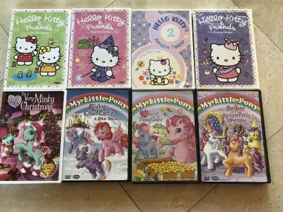 8 Hello kitty and My little pony movies