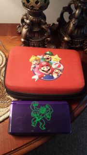 Nintendo 3 D S with stylus, case, and charger
