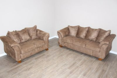 living-room sofa love-seat set - brown