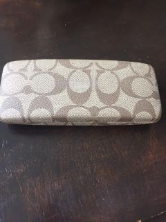 Auth COACH gently used glasses case