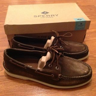 Men's Sperry Top-Sider BRAND NEW shoes A/O 2-eye boat shoes 12M 12 Medium