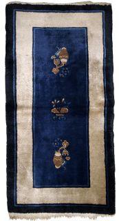 Handmade antique Peking Chinese rug, 1B635