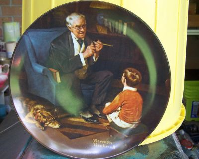 """True Rockwell Classic Collector Plate """"The Tycoon"""" 1982"""