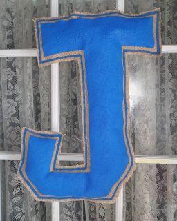 Proud Jesuit administration and parents hand painted & stuffed burlap door hanger
