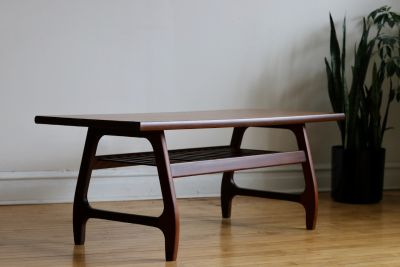 Mid Century Danish Modern Two-Toned Coffee Table