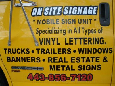 SIGNS made on site (waco)